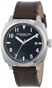 Stuhrling Original Men's 770.SET.02 Tuskegee Spitfire Swiss Quartz Brown Date Watch with Additional Strap