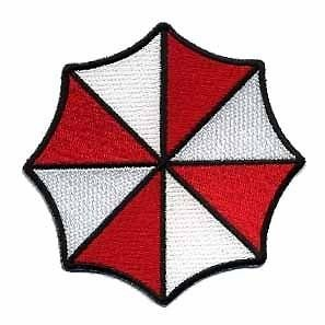 Resident Evil Umbrella Corporation Iron on Patch Logo ricamato 100% Approx: (3,5/8,89 cm x 9 cm circa 8,89 (3,5 cm/9 cm dalla SSLINK