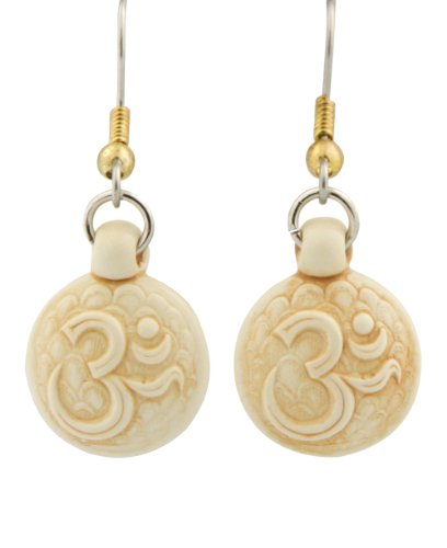 Intricately Detailed Hand Cast Serene Om Earrings