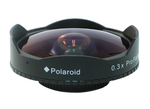 Polaroid Studio Series 52/58mm 0.3x HD Ultra Super Fisheye Lens For Professional Camcorders & SLR's With Video Capability