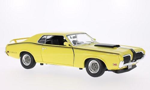 mercury-cougar-eliminator-hellgelb-matt-schwarz-1970-modellauto-fertigmodell-welly-118