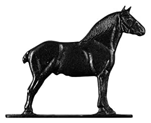"Whitehall Garden Black 30"" Horse (Draft) Weathervane - 65351"
