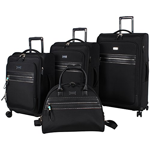 steve-madden-4-piece-patchwork-softside-expandable-luggage-collection-with-spinner-wheels-black