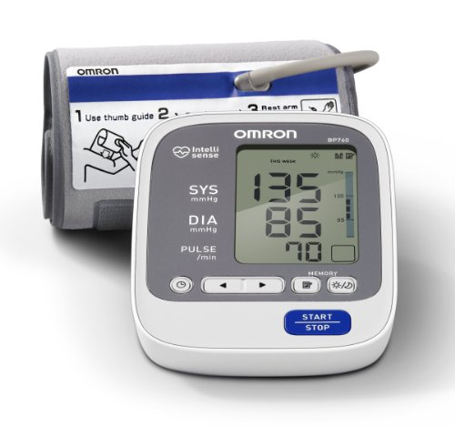 Cheap Omron BP760 7 Series Upper Arm Blood Pressure Monitor, Gray/white, Large (BP760)