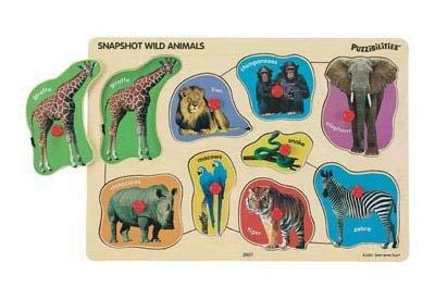 Picture of Small World Toys Snapshot Wild Animal Photo Peg Puzzle (B000ICJZGK) (Pegged Puzzles)