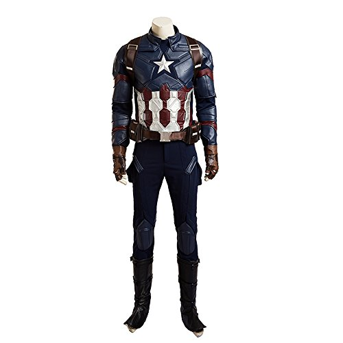 Civil War Captain America Cosplay Costume Adult Full Set