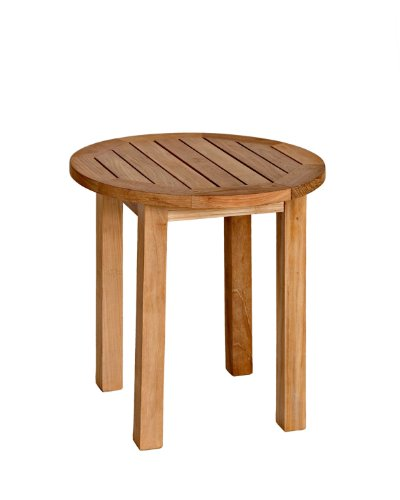 Three Birds Casual Canterbury  20-Inch Tall Round Side Table, Teak image