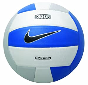 Amazon.com : Nike 3005 Nfhs Volleyball (White/Grey/Blue) : Indoor