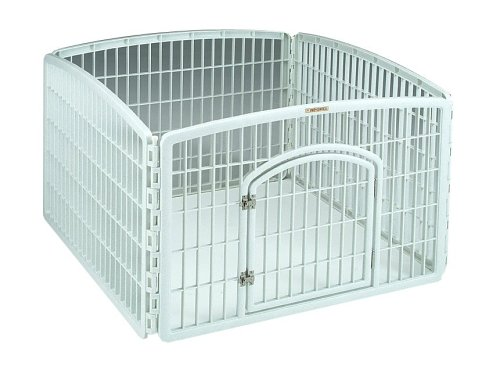 Iris CI-604 Indoor/Outdoor Plastic Pet Pen, 4 Panels