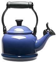 Enamel on Steel Demi 1-1/4 Quarts Caribbean Tea Kettle