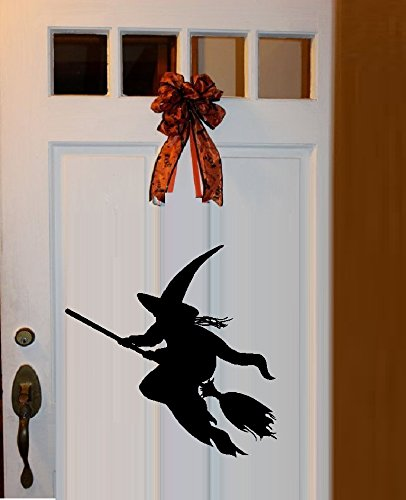WITCH ON BROOM ~ WALL OR WINDOW DECAL: 13