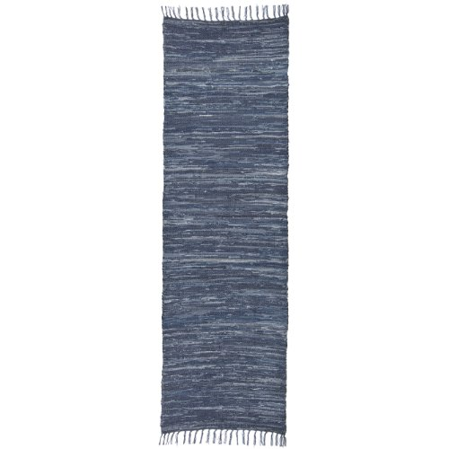 Extra Weave USA Handwoven Cotton Denim Rug, 2.5' X 8'