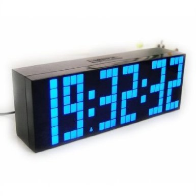 Onsources® Large Big Number Jumbo LED snooze wall desk Alarm clock count down timer with calendar