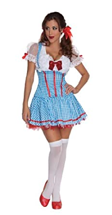 Secret Wishes The Wizard of Oz Sexy Dorothy Costume, Blue, Small