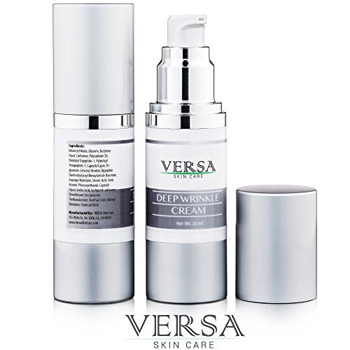VERSA - Deep Wrinkle Cream - get rid of wrinkles - Advanced dermatology - what is the best wrinkle cream = Palmitoyl Tetrapeptide-1, Dipeptide Diaminobutyroyl Benzylamide Diacetate, 30ml (Freeze And Fill Pen compare prices)