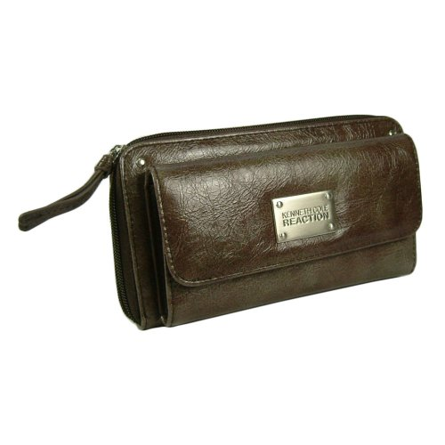 Kenneth Cole Reaction Womens Zip Around Clutch Wallet w/ Outside Credit Card Pocket in Choice of Colors