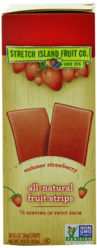 Stretch Island Original Fruit Leather, Summer Strawberry, 0.5-Ounce Strips (Pack of 30)