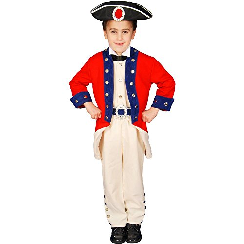 Historical Colonial Soldier Deluxe Kids Costume
