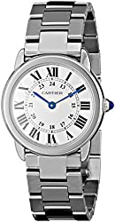 "Cartier Women's W6701004 ""Ronde Solo"" Stainless Steel Watch with Link Bracelet"
