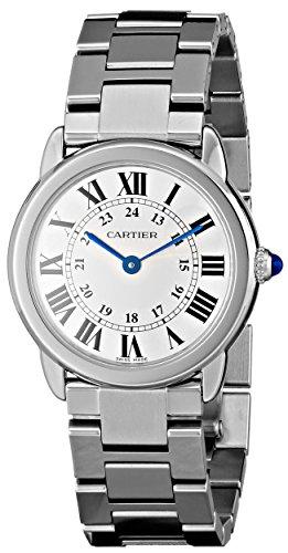 Cartier Women's Steel Bracelet & Case Quartz Silver-Tone Dial Analog Watch W6701004