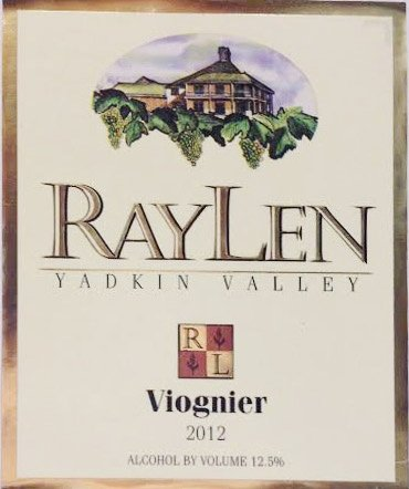 2012 Raylen Vineyards & Winery Yadkin Valley Viognier 750 Ml