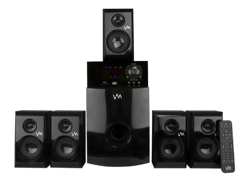 VM Audio EXMS582 800W 5.1 Home Multi Media Surround Sound Speakers System USB/SD