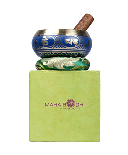 Maha Bodhi Resonance Tibetan Meditation 5 Inch Singing Bowl for Relaxation and Healing - Rin Suzu gongs (Crystal Singing Bowl Bag compare prices)
