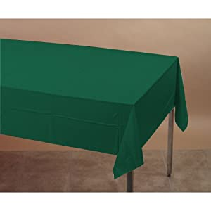 Creative Converting 713124B Hunter Green Tissue/Poly Tablecover 54 X 108 Solid (24pks Case)