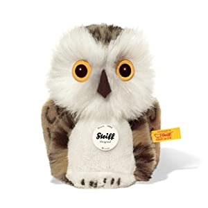 Steiff Wittie Owl Plush, Grey Brindled from Steiff