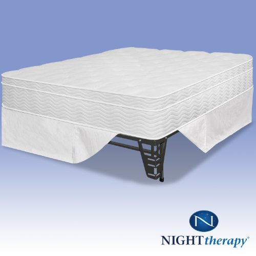 Night Therapy 12 Euro Box Top Spring Mattress Bed Frame Set Twin