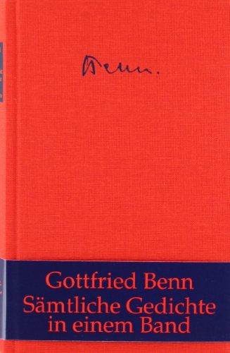 Sämtliche Gedichte Buch Von Gottfried Bennsämtliche