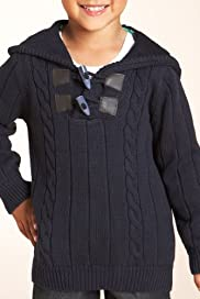 Pure Cotton Cable Knit Hooded Jumper [T88-2520P-S]