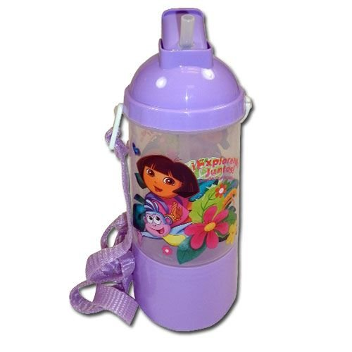 Dora The Explorer Rock N Sip N SNack Canteen Water Bottle
