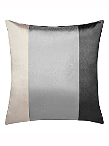 """Brazil Black Silver Beige Striped Faux Silk Lined Ring Top 66"""" X 54"""" Curtains #oir from PCJ SUPPLIES"""
