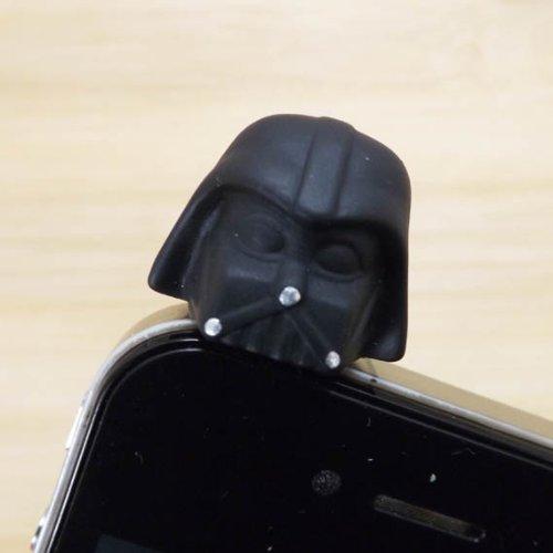 Zoeast Star Wars Darth Vader Black Warrior Dust Plug 3.5Mm Phone Accessory Cell Phone Plug Iphone Dust Plug Samsung Plug Phone Charm Headphone Jack Earphone Cap Ear Cap Dust Plug