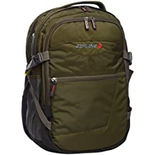 ZIPLINE Polyester 38 Ltrs Dark Green Laptop Backpack