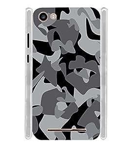 Army Design Soft Silicon Rubberized Back Case Cover for Micromax Spark 2 Plus Q350