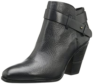 Dolce Vita Women's Hilary Bootie,Black Leather,8.5 M US