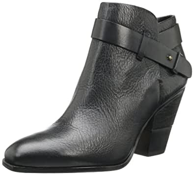 Dolce Vita Women's Hilary Bootie,Black Leather,11 M US
