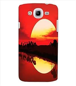 ColourCraft Beautiful SunSet Design Back Case Cover for SAMSUNG GALAXY MEGA 5.8 I9150