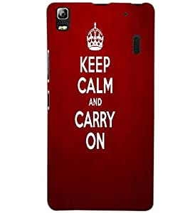 LENOVO K3 NOTE KEEP CALM Back Cover by PRINTSWAG