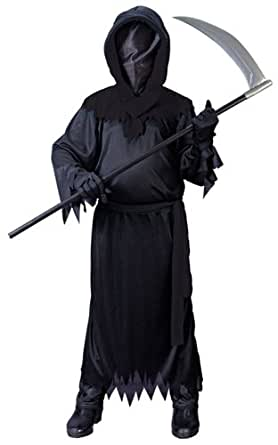 Big Boys' Black Faceless Ghost Costume Medium (8-10)