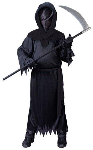 Big Boys' Black Faceless Ghost Costume