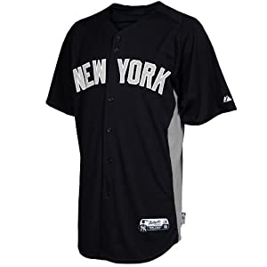 MLB Majestic New York Yankees Batting Practice Performance Jersey - Navy Blue-Gray by Majestic