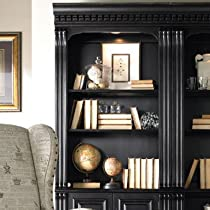 Big Sale Hooker Furniture Telluride Bunching Bookcase with Doors in Black