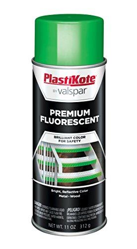 PlastiKote FL-7 Flourescent Go Green Premium Enamel, 12 oz. (Fluorescent Green Spray Paint compare prices)