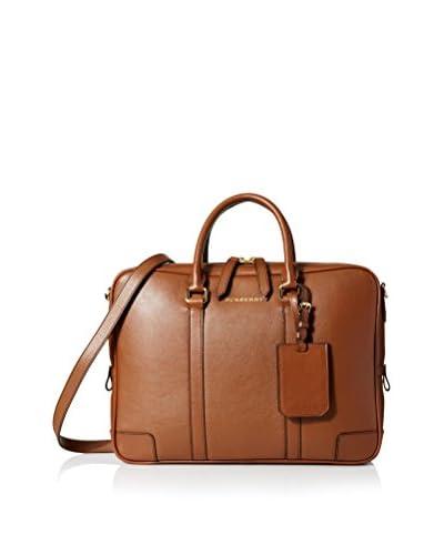 BURBERRY Men's Signature Soft Newburg Briefcase, Brown