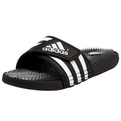 adidas Men's Santiossage Slide Sandal, Black/Clear/Running White, 3 M US