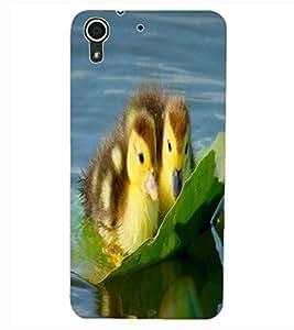 ColourCraft Lovely Ducks Design Back Case Cover for HTC DESIRE 626
