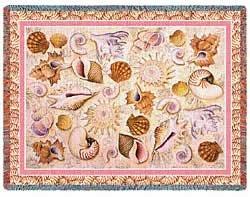 Seashell Throw Blanket front-1036976